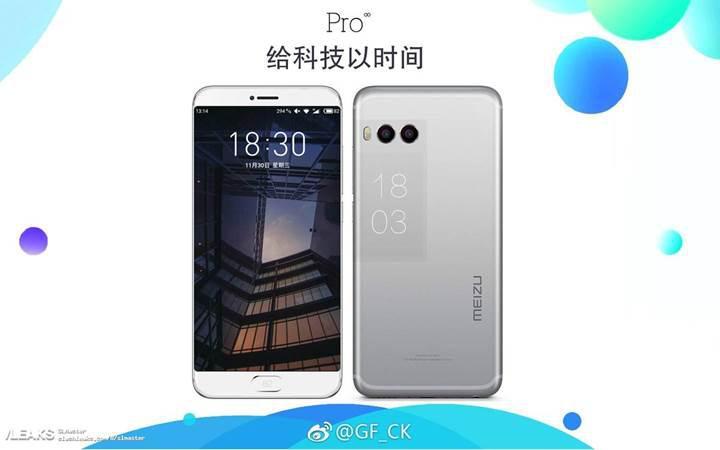 Meizu Pro 7, arka kısımda e-ink ekrana sahip olacak