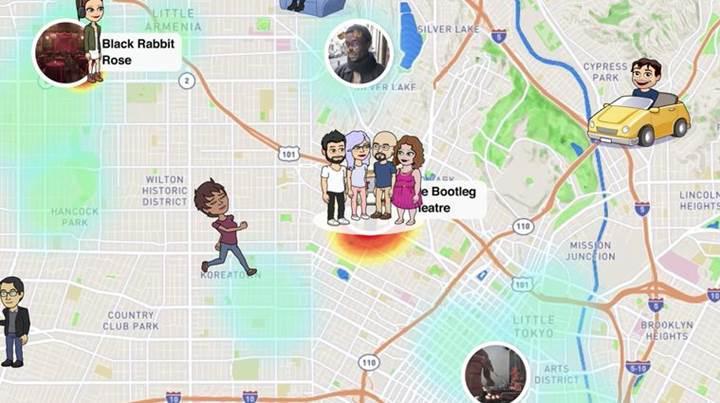 Snap Haritalar özelliği devreye girdi