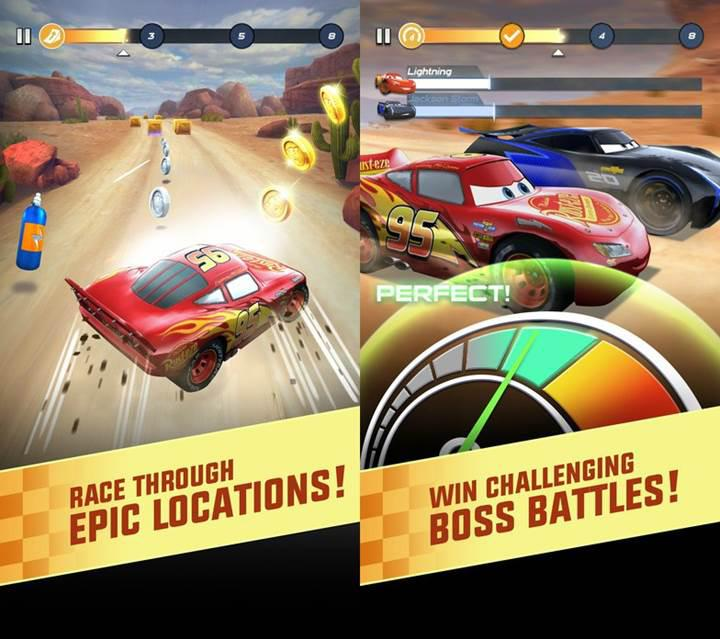 Cars: Lightning League ile filmin heyecanı mobilde