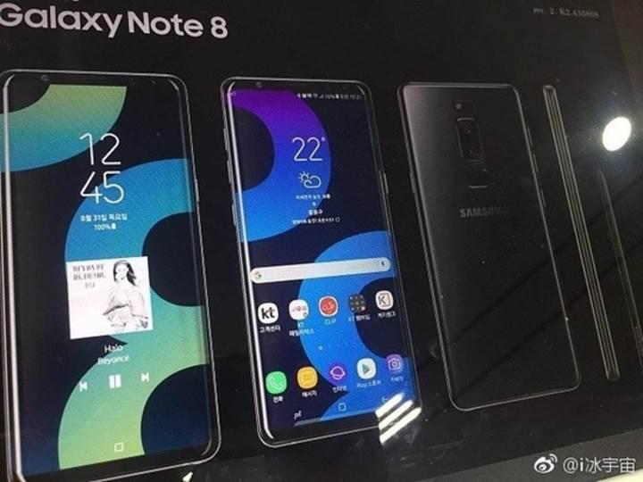 Samsung Galaxy Note 8 basın görseli sızdırıldı iddiası