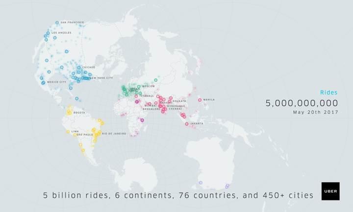 Uber, 5 milyarıncı yolculuğu geride bıraktı