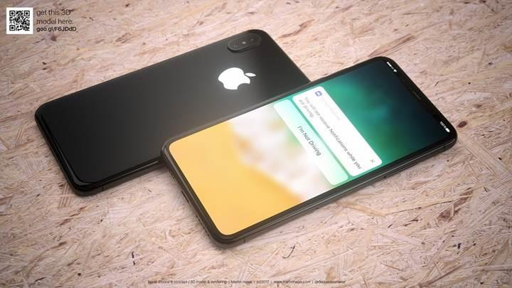 iPhone 8'de parmak izi tarayıcısı yerine 3D yüz tanıma teknolojisi olabilir