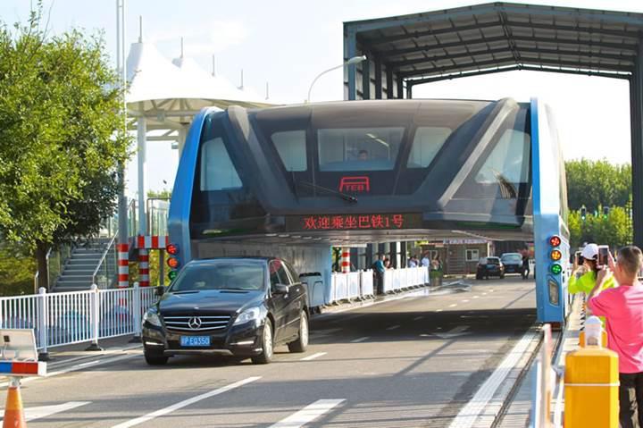 Çin'in yükseltilmiş otobüs projesi tezgah çıktı