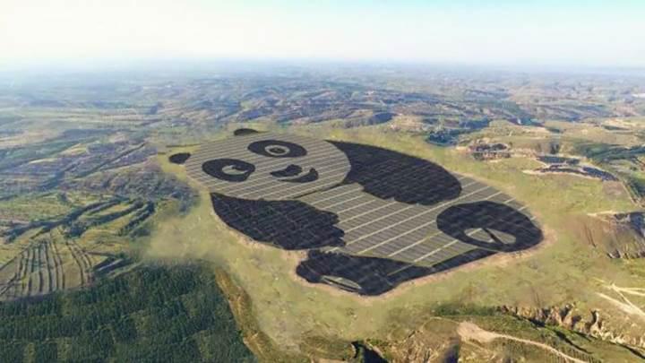 Çinliler panda temalı güneş enerjisi tesisi kurdu