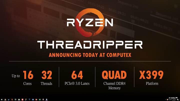 AMD Ryzen Threadripper işlemcisinin yeni test sonuçları sızdı