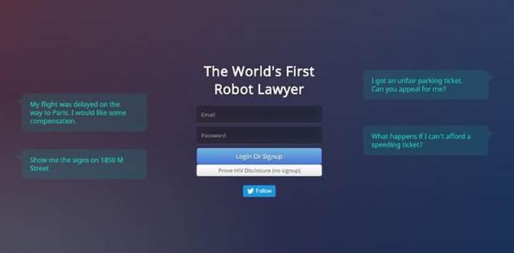 Yapay zeka destekli robot avukat giderek yaygınlaşıyor