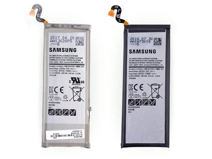Yenilenen Galaxy Note 7'lerin sadece pili değişmiş