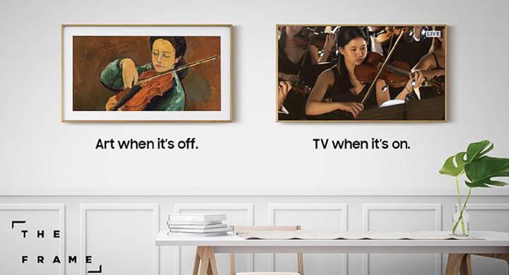 Tablo gibi televizyon Samsung The Frame satışa çıkıyor