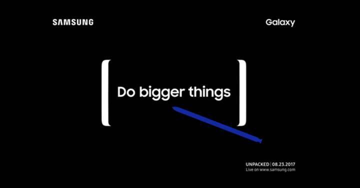 Resmi: Samsung Galaxy Note 8, 23 Ağustos'ta tanıtılıyor