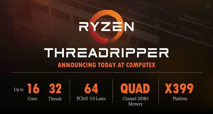 AMD'nin Ryzen Threadripper işlemcileri soğutucusuz gelecek