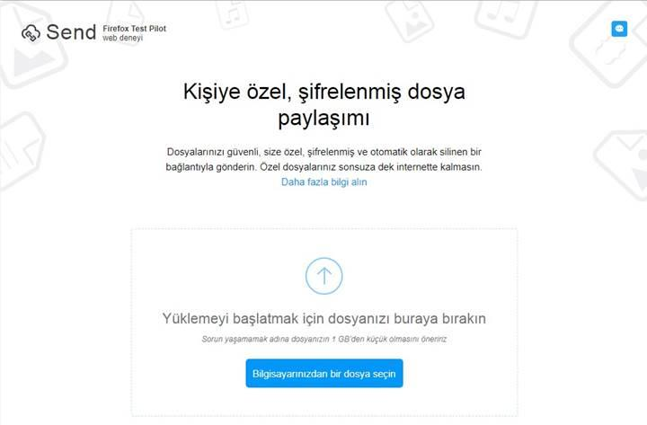 Mozilla'dan tek kullanımlık dosya paylaşım hizmeti