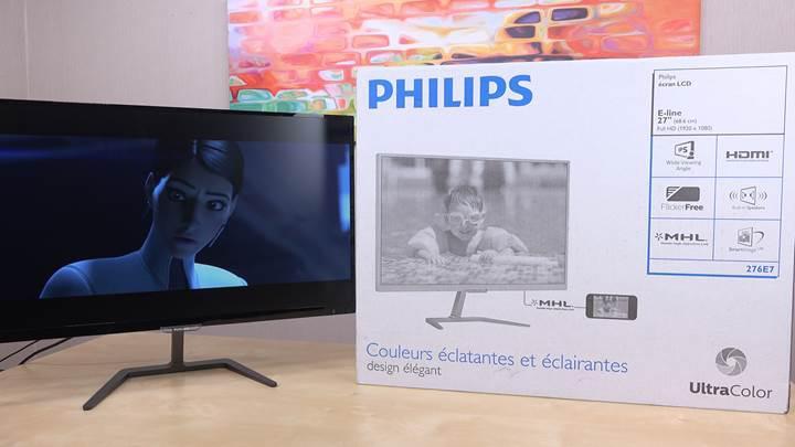 Philips 276E7 monitör incelemesi 'MHL'li dizi-film ustası'