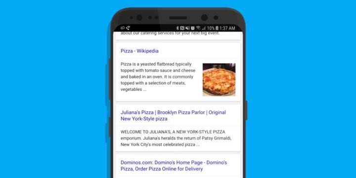 Google mobil arama sonuçlarındaki URL'leri kaldırabilir