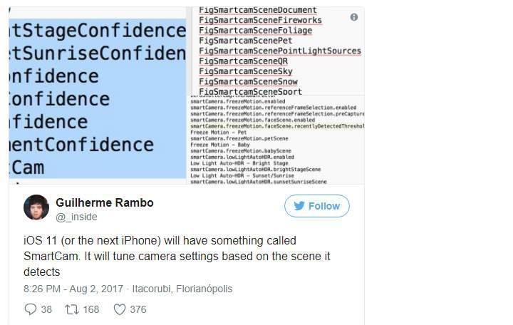 iPhone 8'in kamerası 'SmartCam' ile daha akıllı olacak
