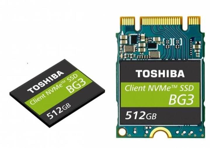 Toshiba dünyanın en ince NVMe SSD'sini duyurdu