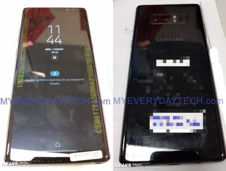 Samsung Galaxy Note 8 ilk kez çalışır halde görüntülendi