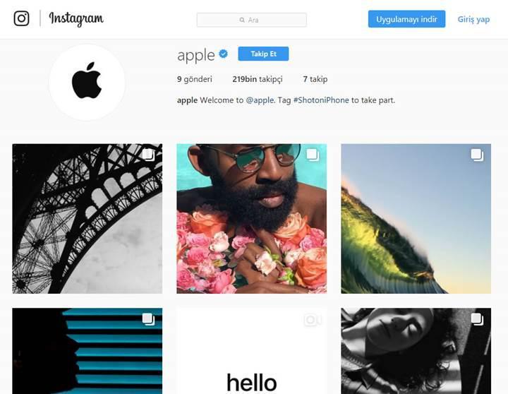 Apple resmi Instagram hesabını açtı