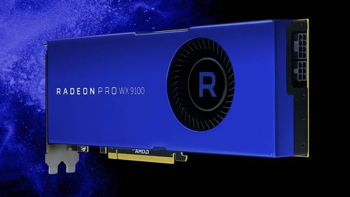 4 Radeon Pro WX 9100 2 adet 1250W PSU ile görüntülendi