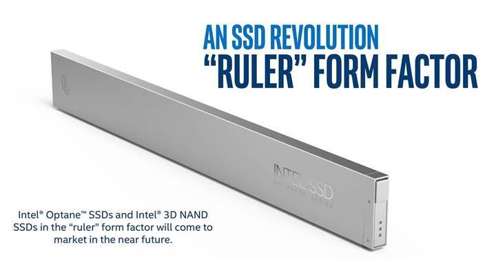 Intel'den devrim: Cetvel tipi SSD sürücüler