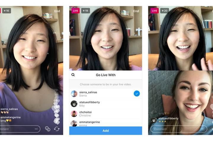 Instagram kullanıcıları artık birlikte canlı yayın yapabilecekler