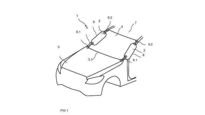 Mercedes yayalar için harici hava yastığının patentini almış