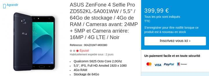 Çift ön kameralı ZenFone 4 serisi yanlışlıkla resmiyet kazandı