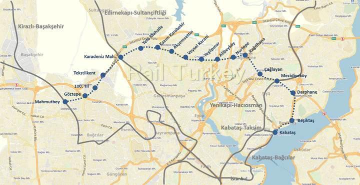 Mecidiyeköy - Mahmutbey metro hattı 2019'da açılacak
