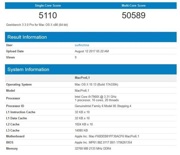 Intel Core i9-7900X işlemcili iMac Pro ve Mac Pro göründü