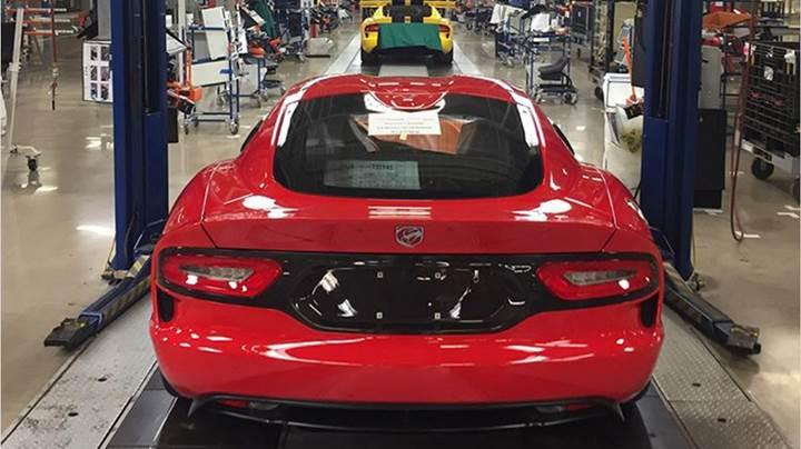Üretilen son Dodge Viper banttan indirildi