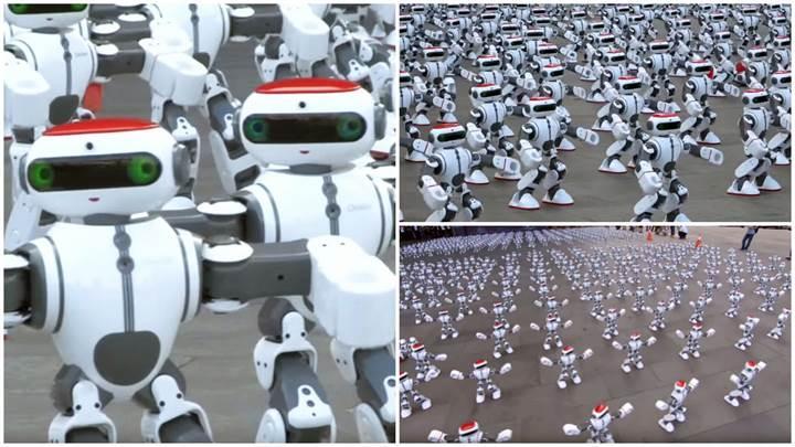 1.069 robot aynı anda dans ederek yeni bir Guinness Dünya Rekoru kırdı