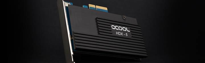 Alphacool HDX-5 M.2 SSD soğutuculu RAID kartını duyurdu