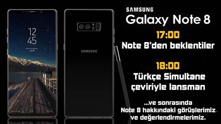 Samsung Note 8 lansmanı Türkçe simultane çeviriyle 23 Ağustos günü DH ekranlarında!