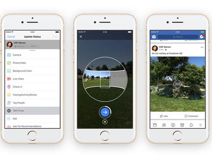 Facebook uygulamasına 360 derece fotoğraf çekme yeteneği geldi