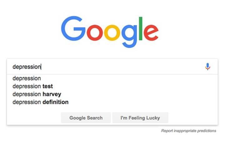 Google kullanıcılara depresyon testi sunuyor
