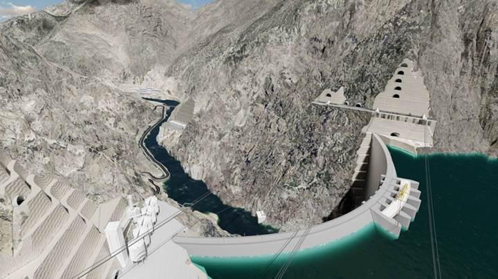 Dünyanın en yüksek üçüncü barajı Yusufeli Barajı'nda sona yaklaşıldı
