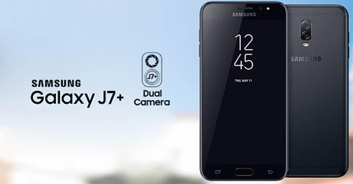 Çift kameralı Samsung Galaxy J7+ videoyla sızdı