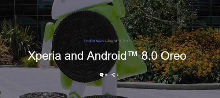 Sony, Android 8.0 Oreo alacak Xperia cihazları açıkladı