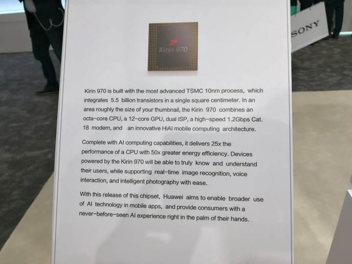 Huawei Kirin 970 duyuruldu