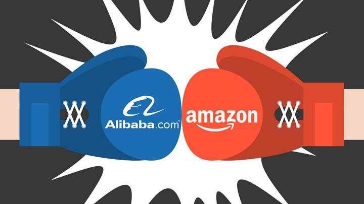 Amazon ve Alibaba 'en büyük' olma yarışında
