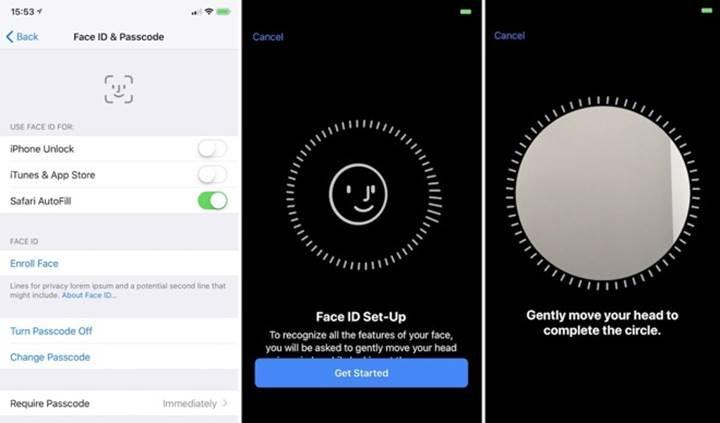 iPhone için yüz tanıma teknolojisi Face ID böyle çalışacak