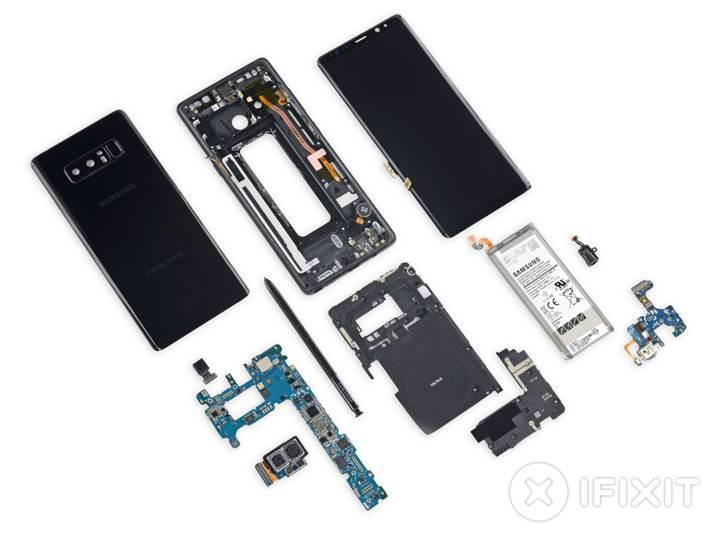Samsung Galaxy Note 8'in onarılabilirlik puanı belli oldu