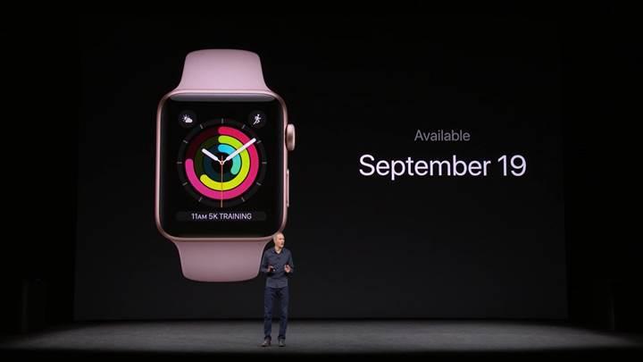 LTE desteğine sahip Apple Watch Series 3 tanıtıldı