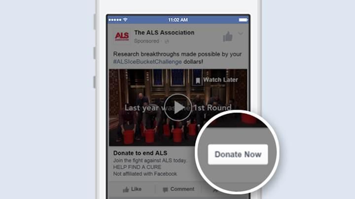 Facebook'un ''Bağış Yap'' butonu Avrupa'ya geliyor