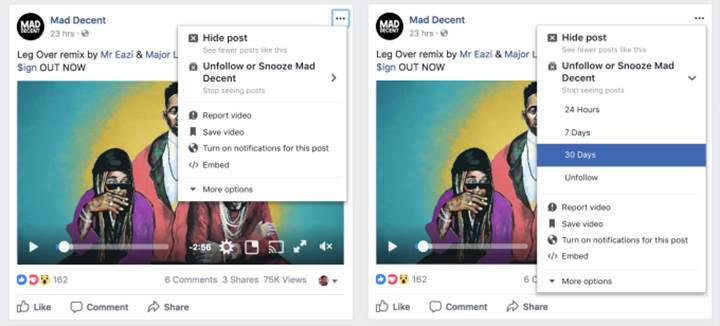 Facebook'tan arkadaşlarınızı geçici olarak sessize alabileceğiniz yeni özellik