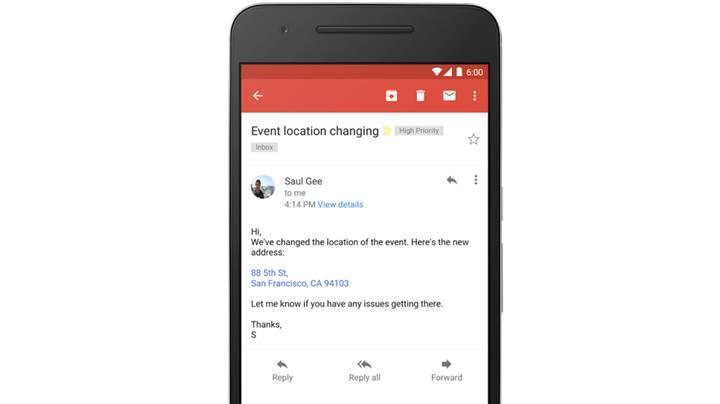 Gmail artık telefon numarası ve adresleri de linke dönüştürecek