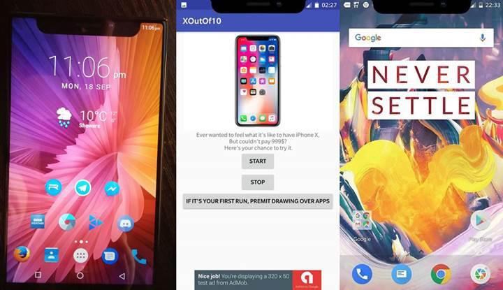 Android telefonda iPhone X ekran deneyimi yaşamak mümkün