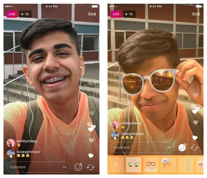 Instagram canlı yayınlarında artık yüz filtreleri kullanılabilecek