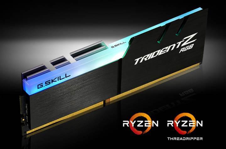 G.Skill'den AMD Ryzen ve Threadripper işlemciler için DDR4 bellek kitleri