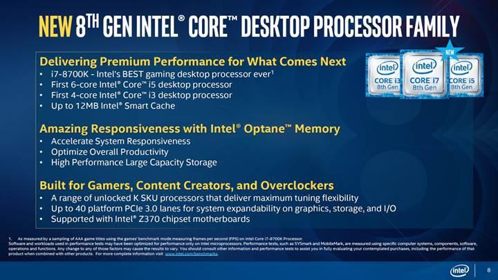 Intel Coffee Lake masaüstü işlemciler karşınızda
