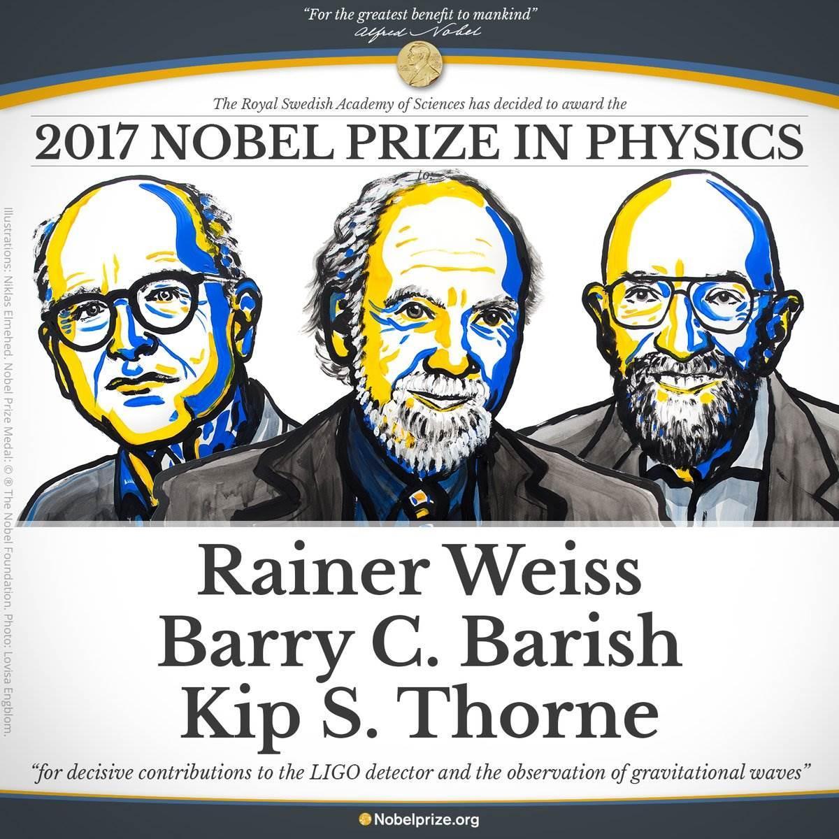 2017 Nobel Fizik Ödülü'nün kazananı belli oldu